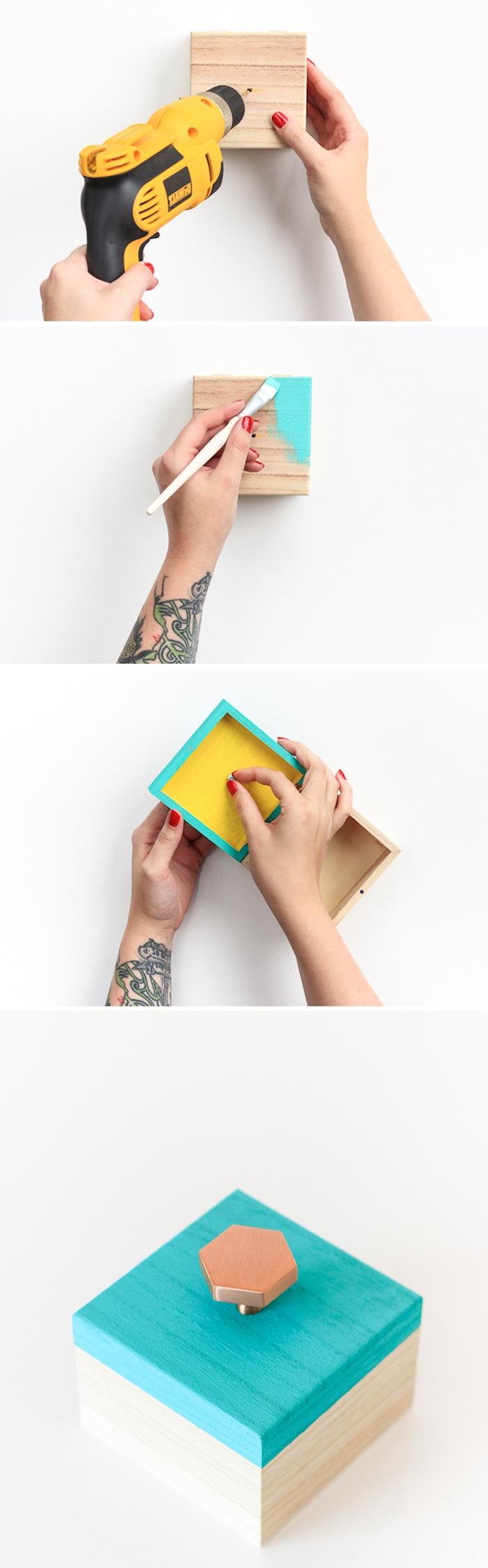 exemple comment fabriquer une boite a bijoux soi meme, cadeau pour la fête des mères a fabriquer