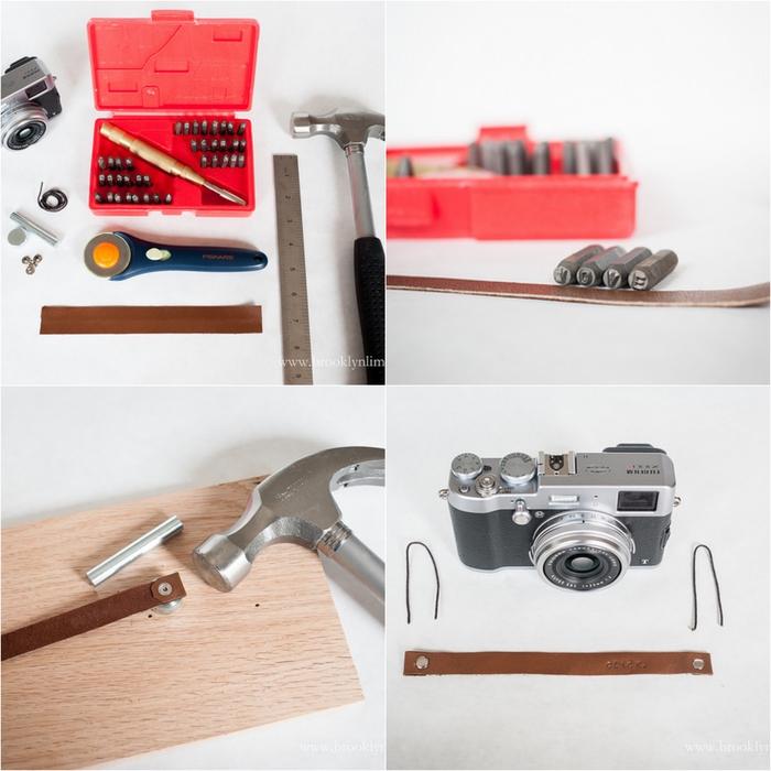 idees cadeaux pour les hommes passionnés de la photographie, comment réaliser un sangle en cuir pour appareil photo vintage