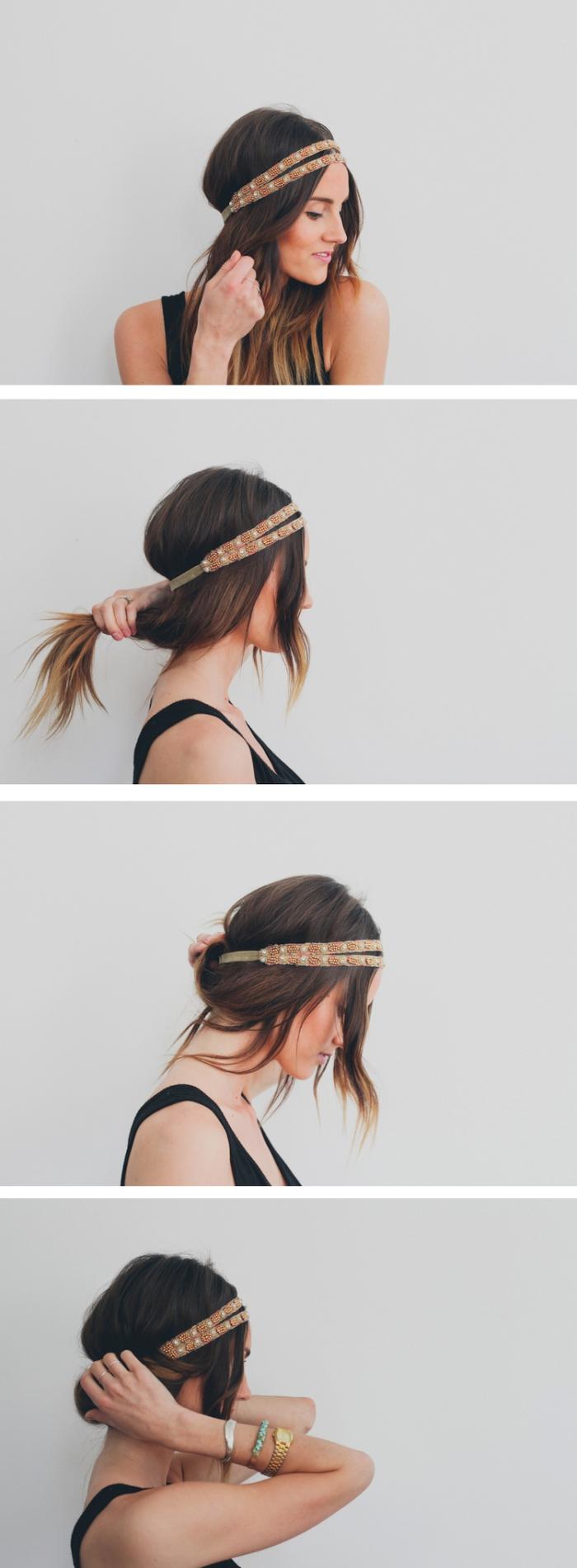 Coiffure femme headband