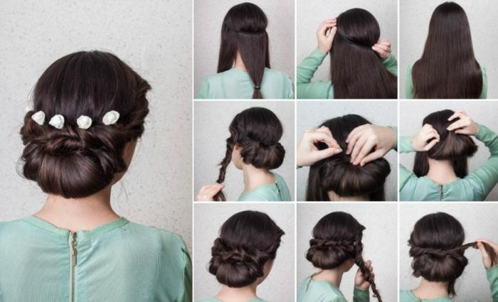 Mariage coiffure mariée cheveux longs coiffure mariée chignon