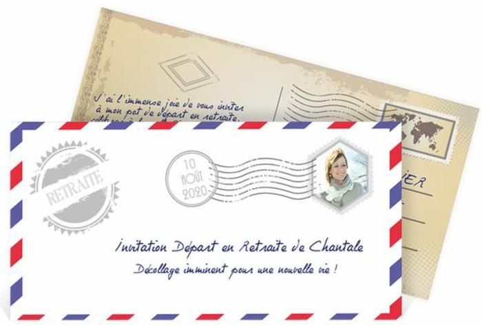 carte de retraite, invitation départ en retraite de Chantale, Décollage imminent pour une nouvelle vie, invitation très originale pour faire la fête