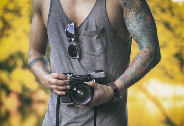 Le tatouage représentant la force viking tatou idée homme manchette tatouage
