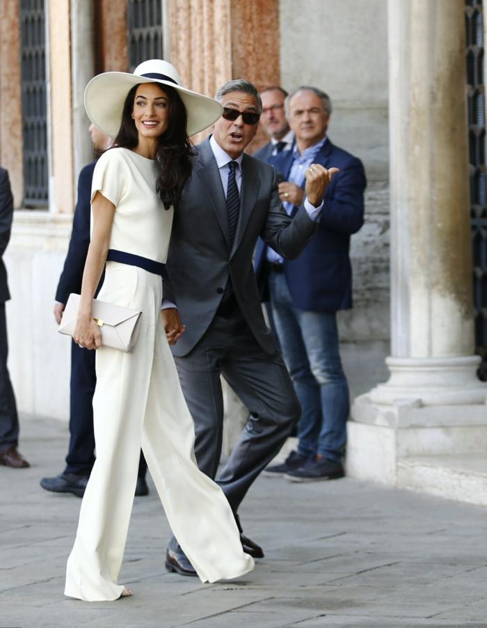 Quelle tenue soirée femme pantalon s habiller chic tailleur blanc