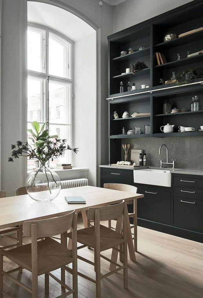 1001 id es pour une petite cuisine quip e des int rieurs gain de place - Meuble cuisine avec table integree ...