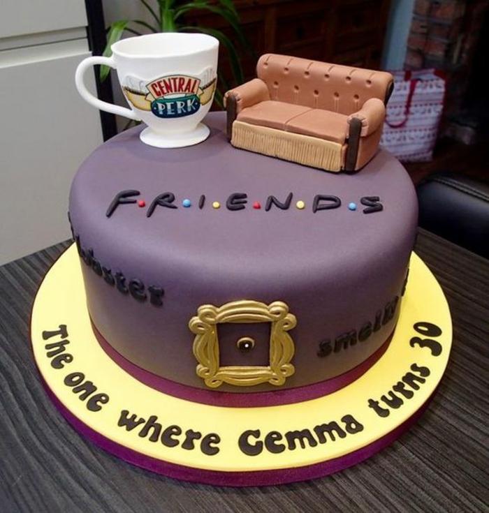 Idée gateau facile et joli recette gateau anniversaire beau gateau Friends thématique