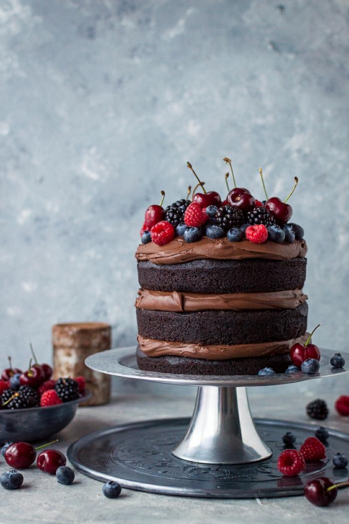 Cool gâteau d anniversaire original recette de gateau d anniversaire chocolat et fruits
