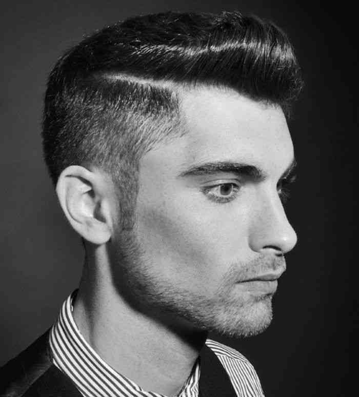 coupe hipster homme année 50 style pompadour