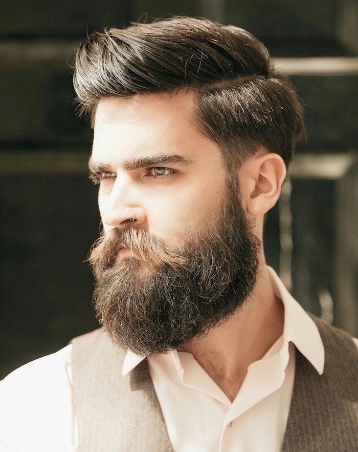 1001 id es barbe longue des centim tres et des sentiments - Coupe pompadour homme ...