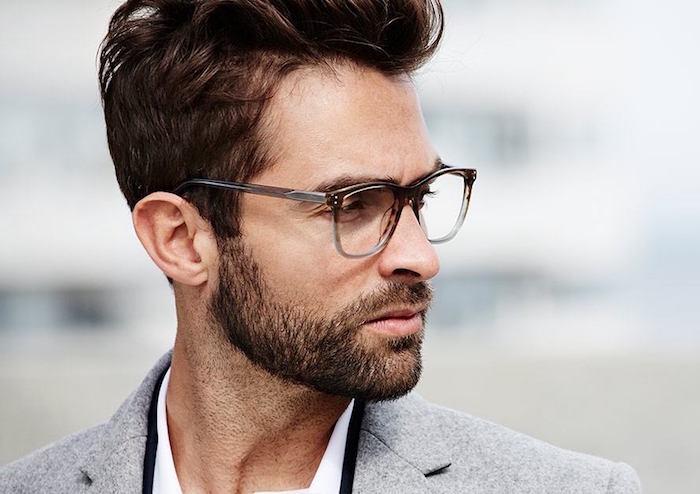 coupe de barbe taillée de 3 jours homme barbu