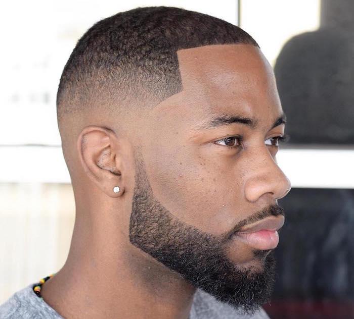 raser tailler barbe et cheveux court dégradé américain