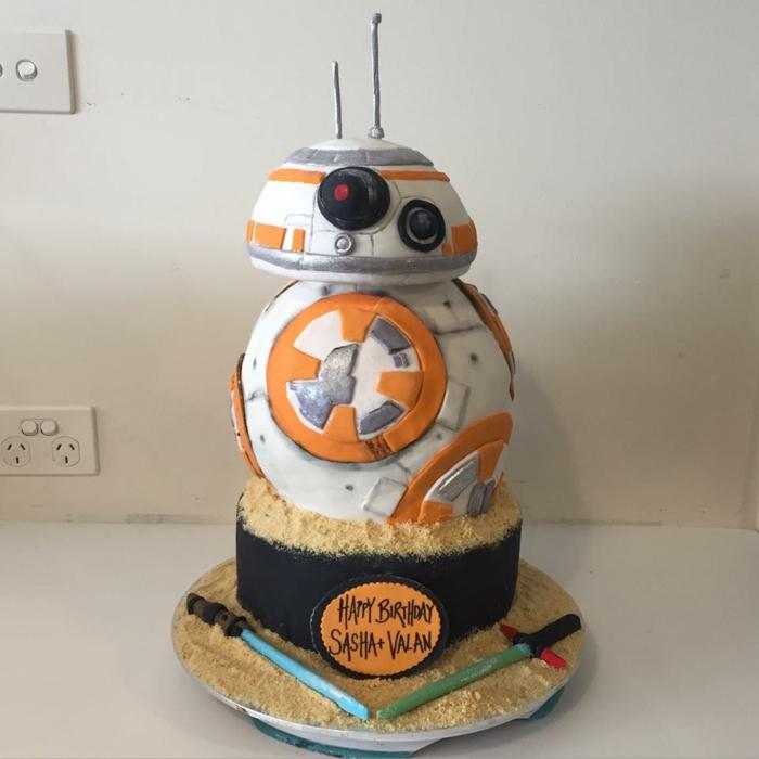 Image gateau anniversaire idée gateau anniversaire heureux Star Wars thème anniversaire gateau