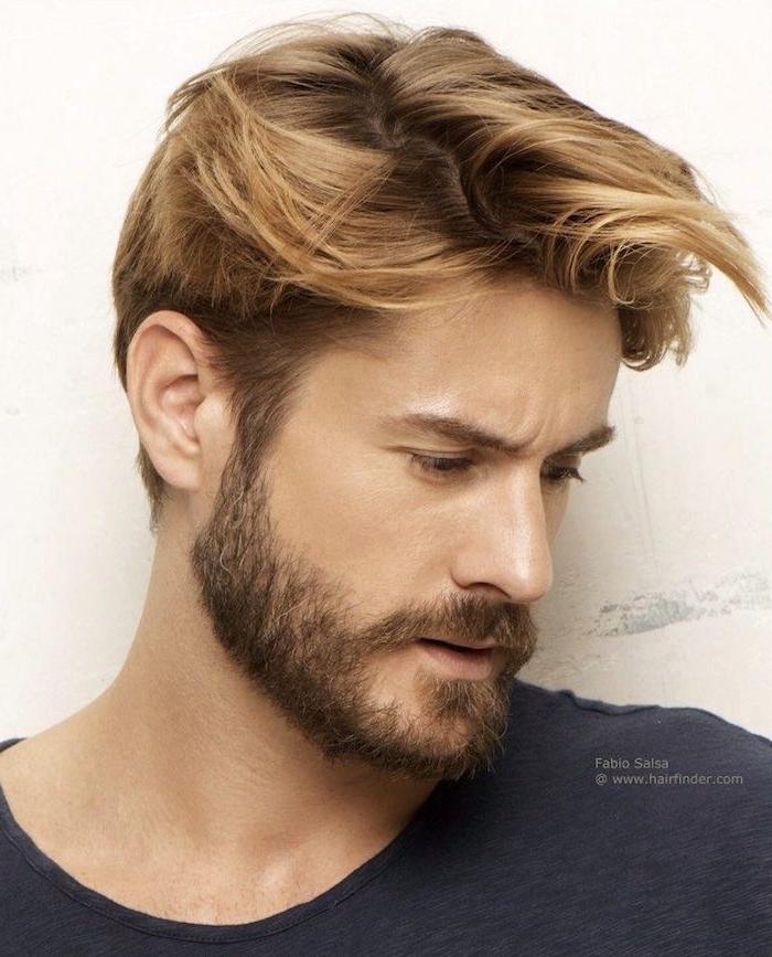 tailler sa barbe de 3 jours courte coiffure homme blond