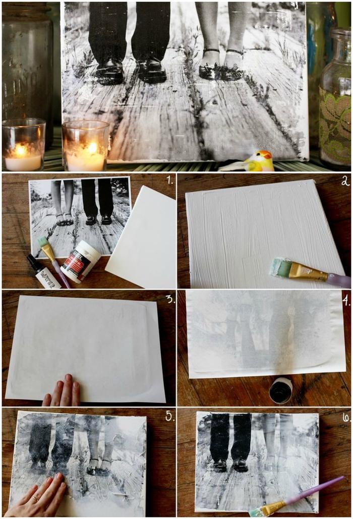 un joli cadeau de saint valentin pour capter un moment spécial, comment créer une photo de couple noir et blanc sur toile