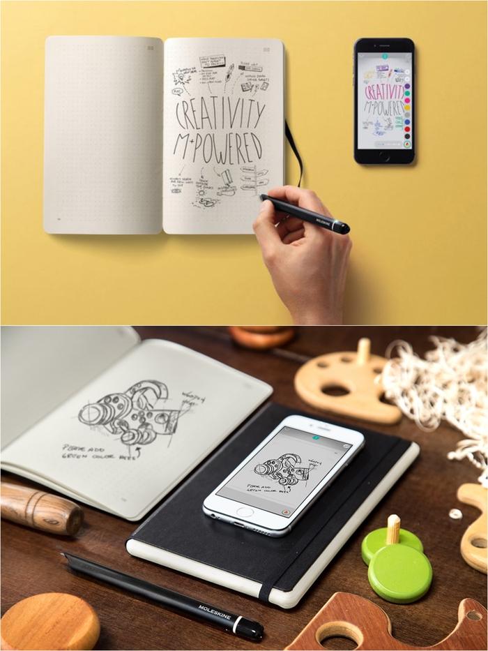 un cadeau de saint valentin pour les âmes créatives, un carnet connecté digital qui permet de prendre des notes et de les retrouver ensuite sur un appareil électronique