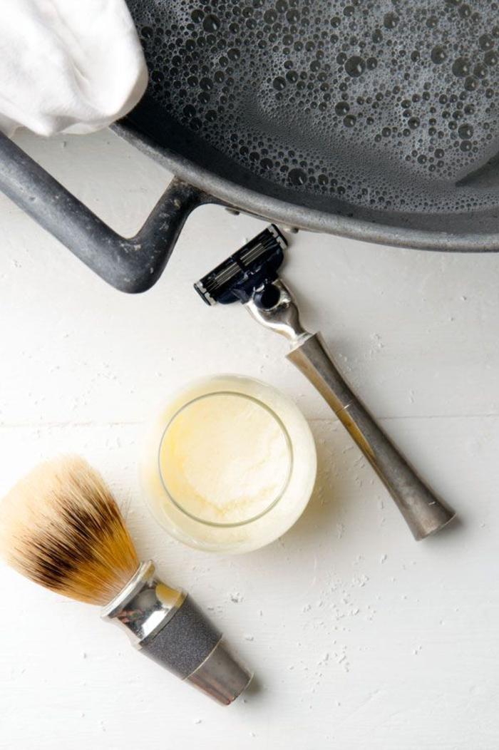 recette de crème à raser faite maison à offrir comme cadeau de saint valentin original
