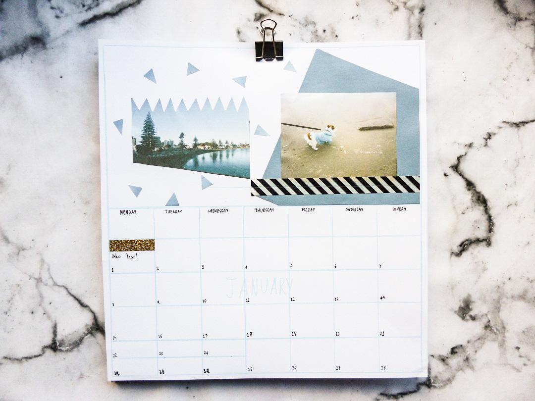 Calendrier personnalisé pour 2018 activité créative calendrier à faire soi même