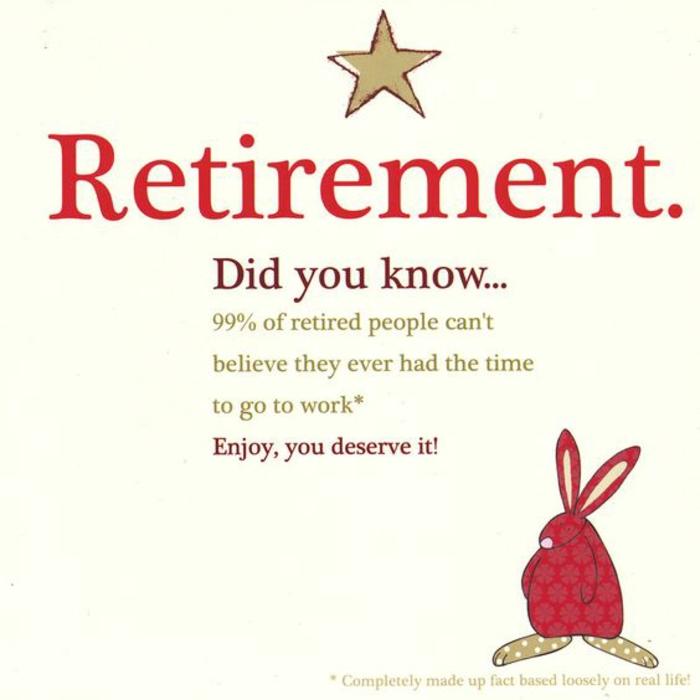 invitation départ en retraite, carte de retraite, profiter pleinement de son temps, un lapinou en rouge avec des pois sur soi, ambiance ludique, tu le mérites de profiter de ta retraite