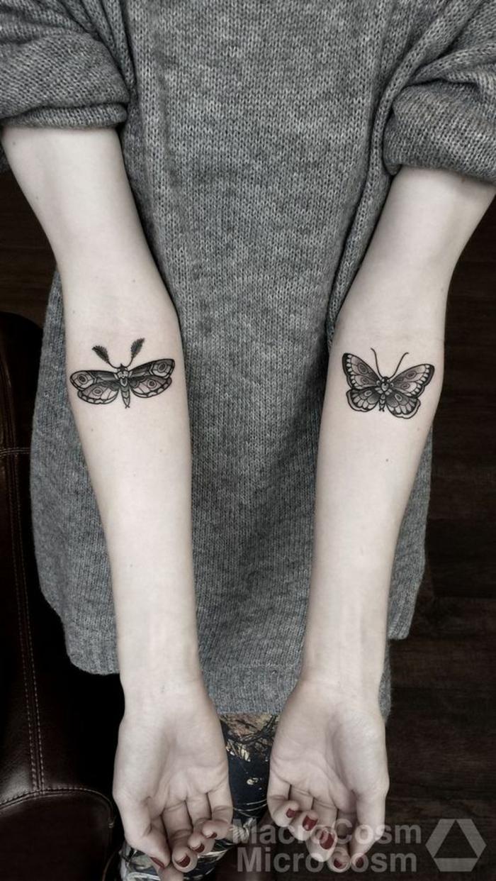 Petit tatouage les plus beaux tatouages discrets symbole papillons joli dessin sur la main