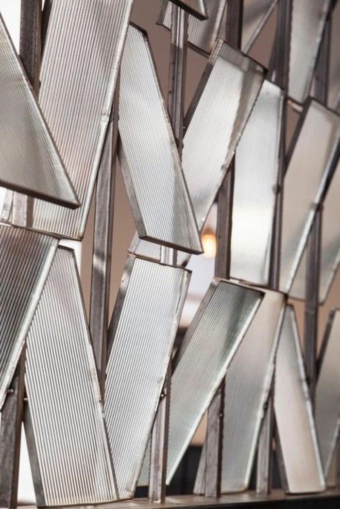 détails de la surface du séparateur pour la séparation chambre salon, des ouvertures pour laisser pénétrer la lumière