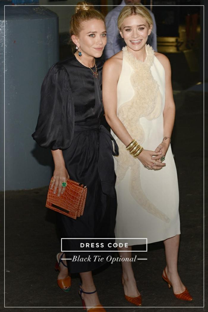 Jolie tenue de soirée femme mariage tenu soirée femme Olsen twins