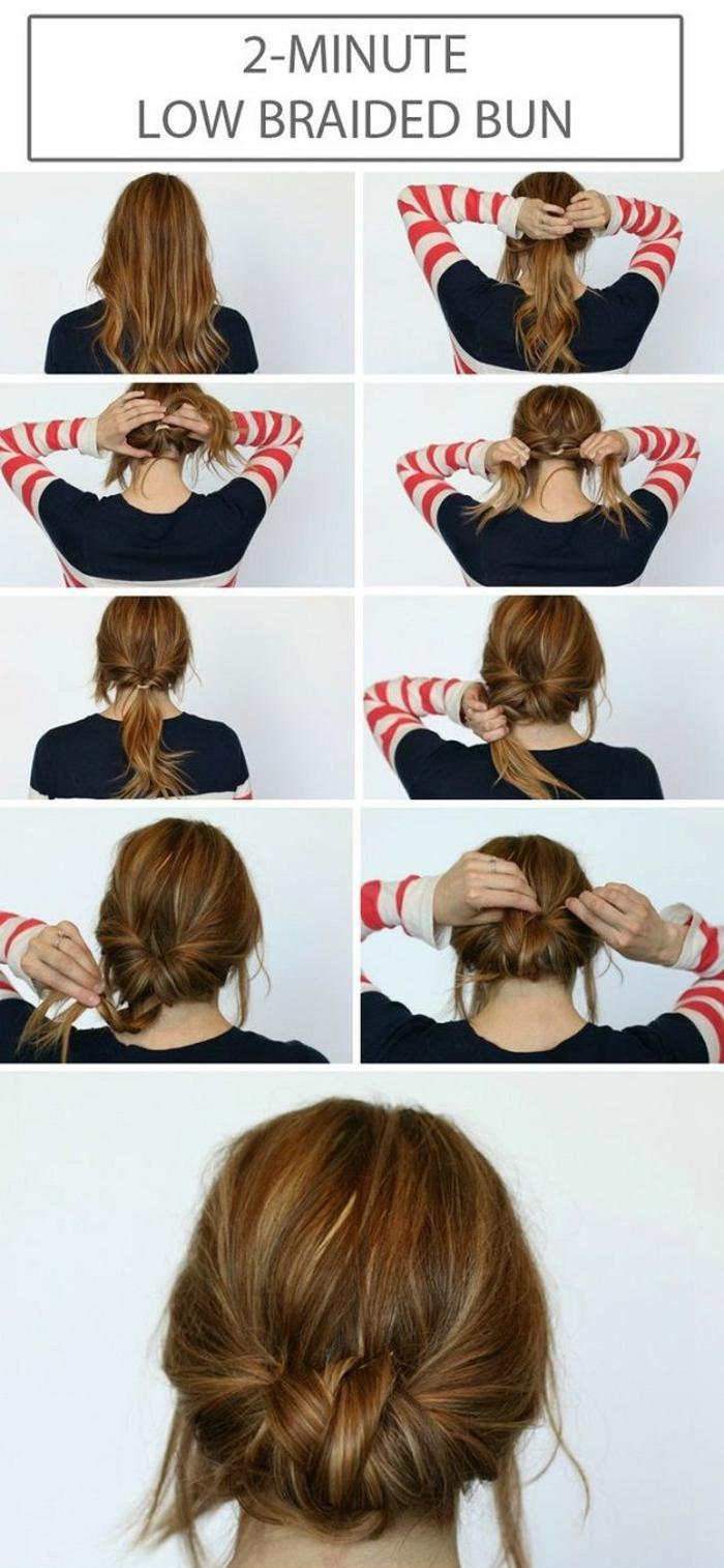 coiffure bohème chic avec un chignon tressé express réalisé en deux minutes