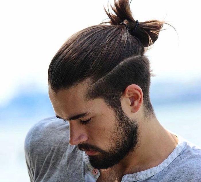 coupe cheveux long homme attache