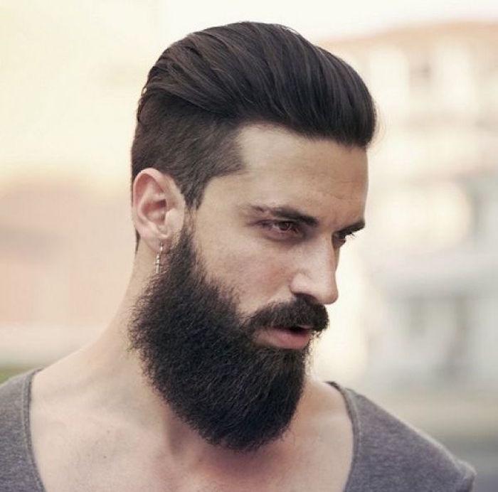 coiffure homme court en arriere