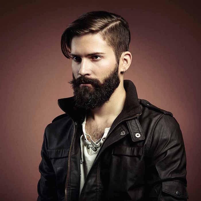 coupe de barbe taillée et moustache homme coupe homme tendance
