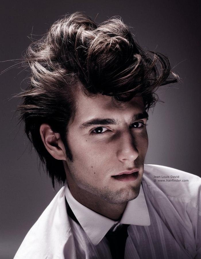 coupe homme année 50 retro vintage coiffure rockabilly