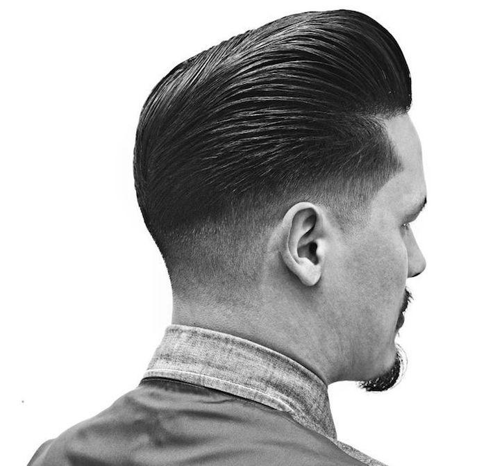modele coiffure banane homme style pompadour retro