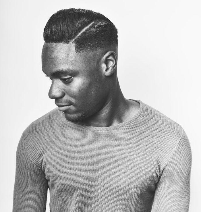 coupe pompadour coiffure banane homme black court