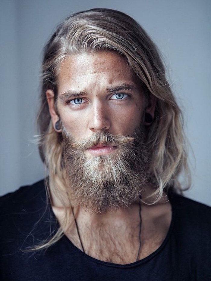 comment faire pousser la barbe blonde longue et cheveux longs style viking