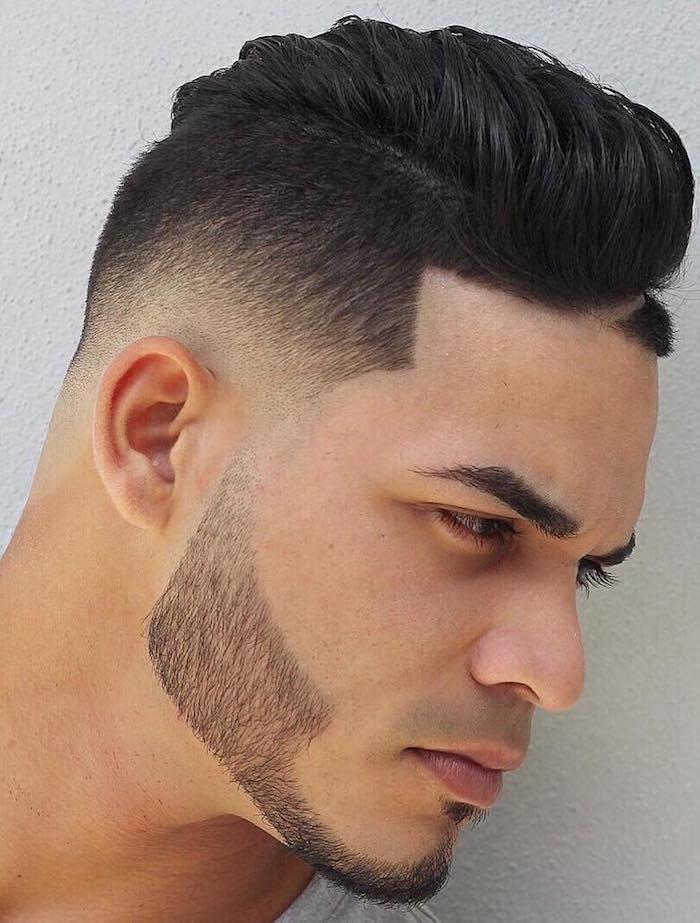 taille barbe courte et rasage coiffure dégradé hipster