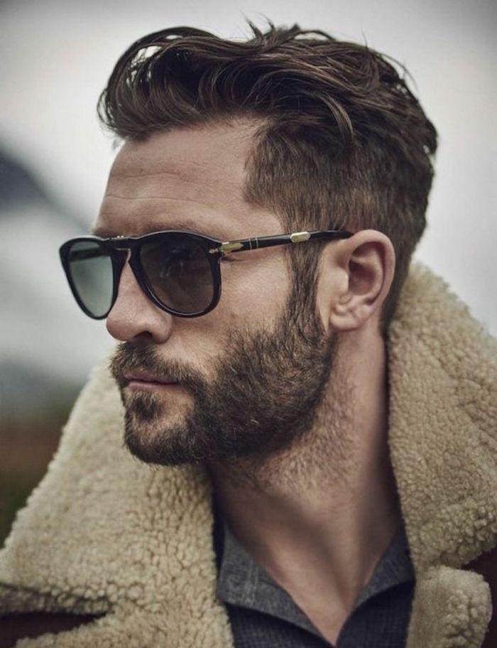 bien tailler sa barbe courte avec coiffure homme dégradé