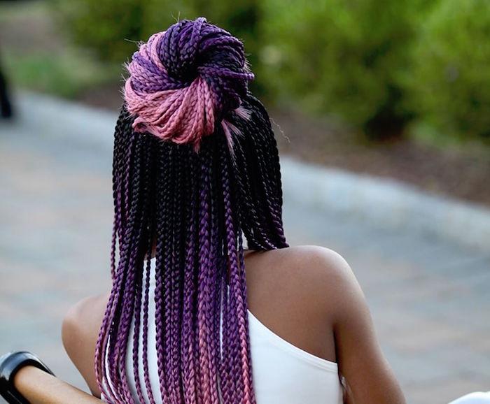rajouts extensions couleurs tresses afro longues