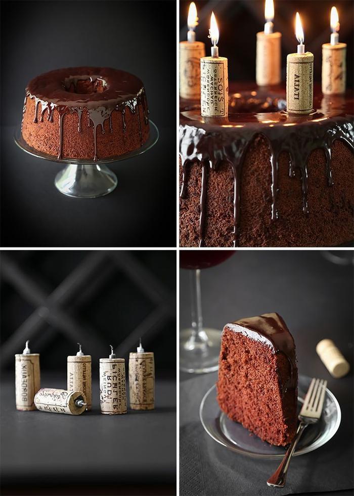 une recette gateau au chocolat moelleux et aérien au chocolat et au vin rouge, recette de chiffon cake délicieux