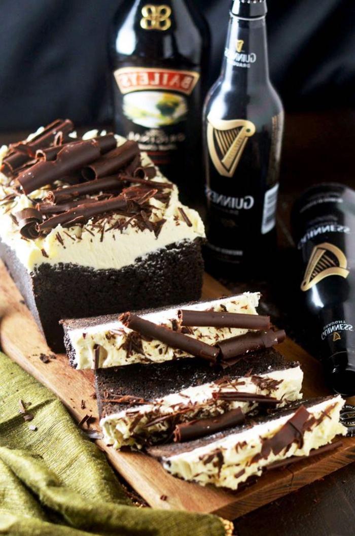 recette gâteau au chocolat glacé à la guinness et à la glace baileys