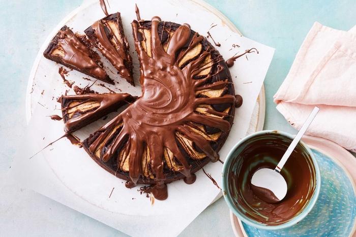 recette gâteau au chocolat, aux dattes et aux poires sans gluten et sans farine