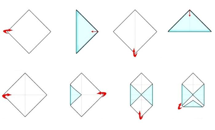pliage enveloppe, tutoriel facile avec les étapes de pliage pour faire une enveloppe en papier