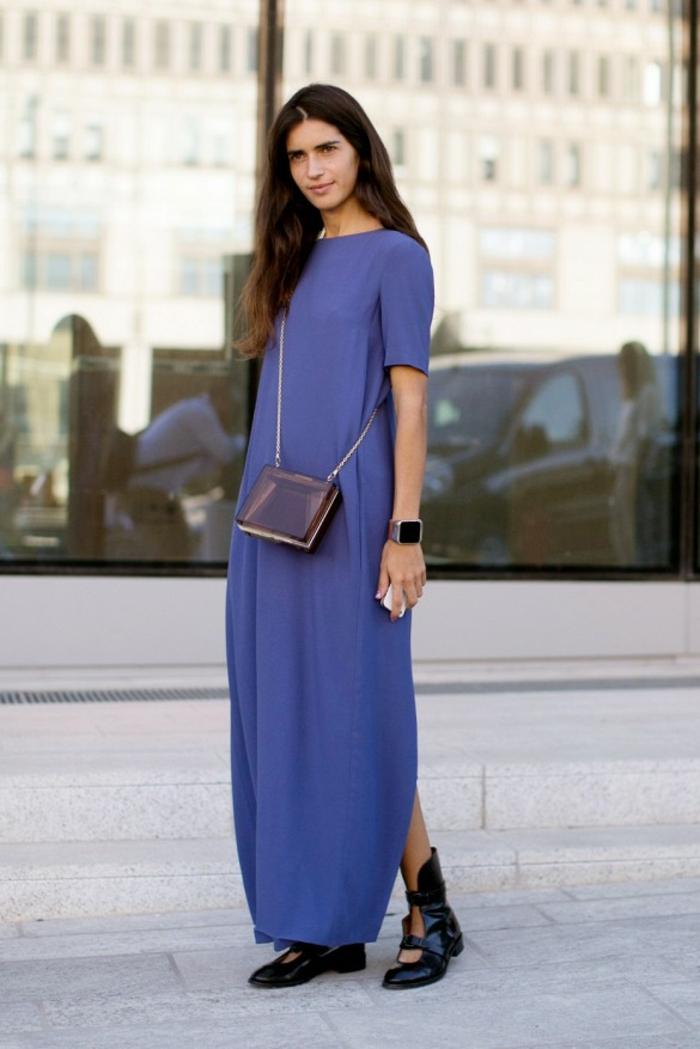 Femme robe longue manches courtes robe féminine