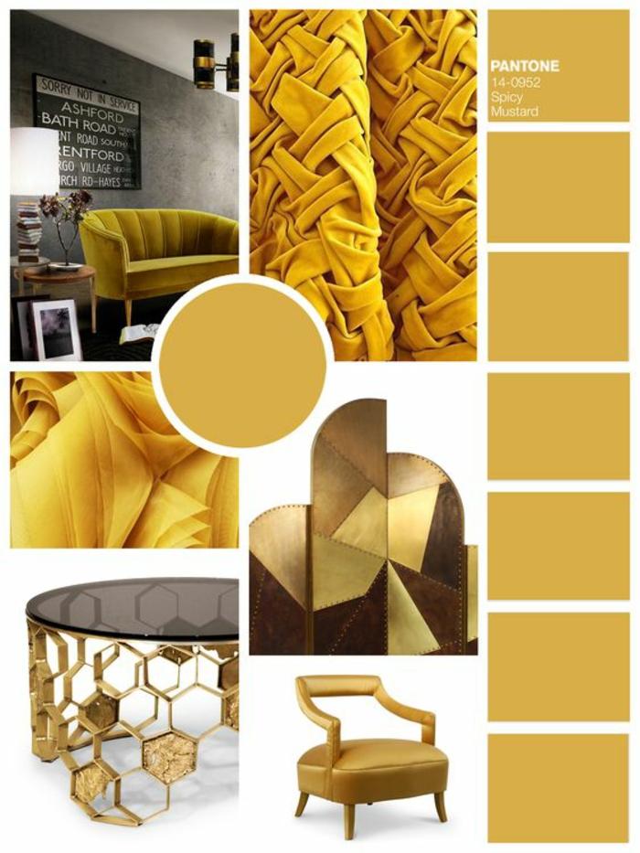 construire sa maison, planche tendance pour l'aménagement de la maison tout en style, meubles et détails assortis en style et en couleur
