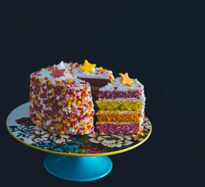 Un gateau au chocolat anniversaire adulte image gateau d anniversaire étoiles déco coloré pate colore