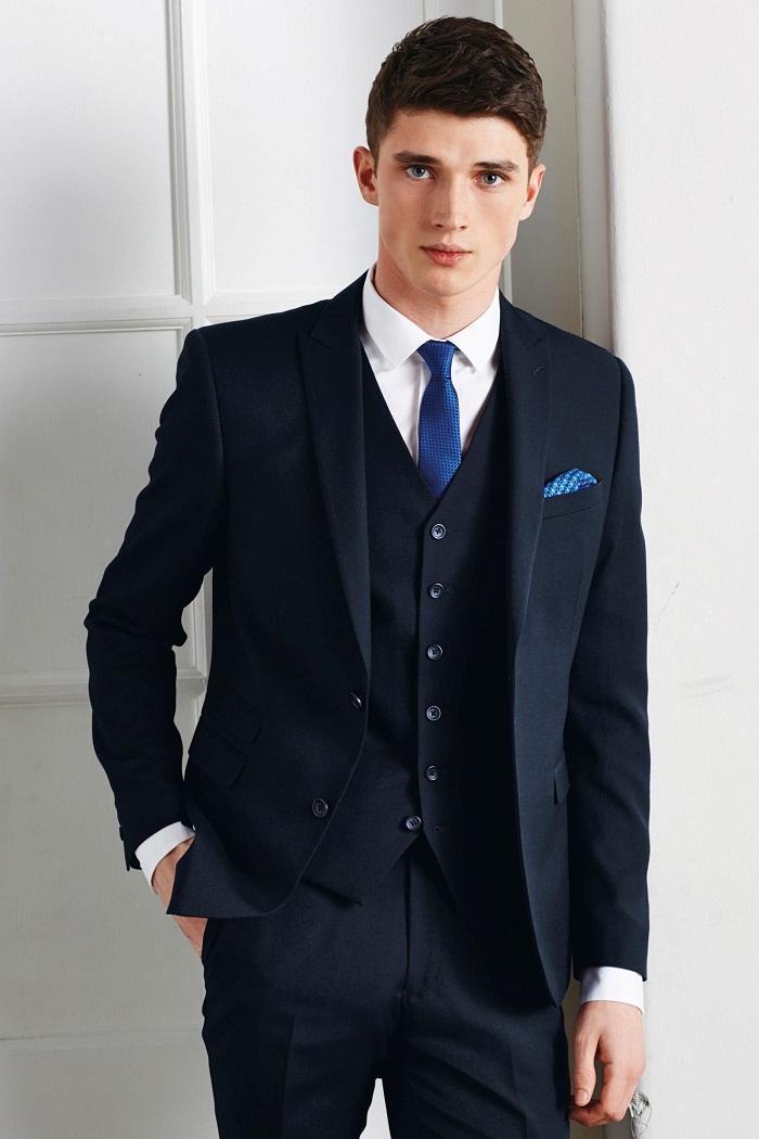 costard homme costume bleu marine 3 pièces