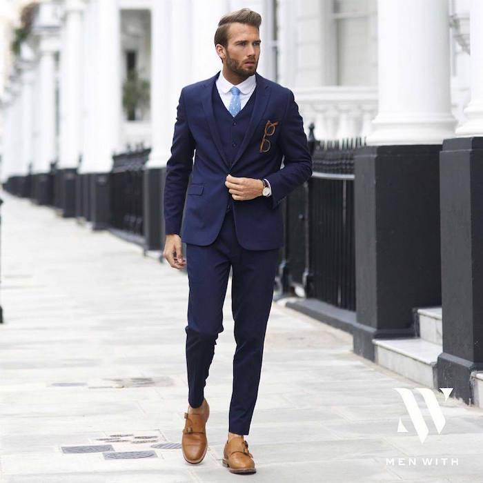 1001 Idees Le Costume Bleu Marine Homme Elegance Et Sobriete