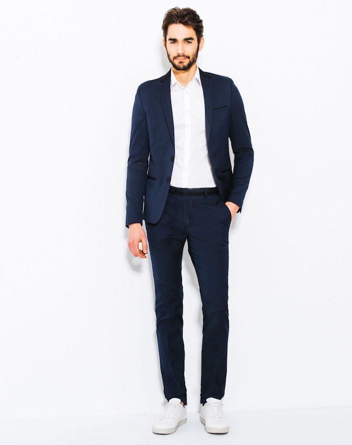 costume veste homme jules bleu marine tennis