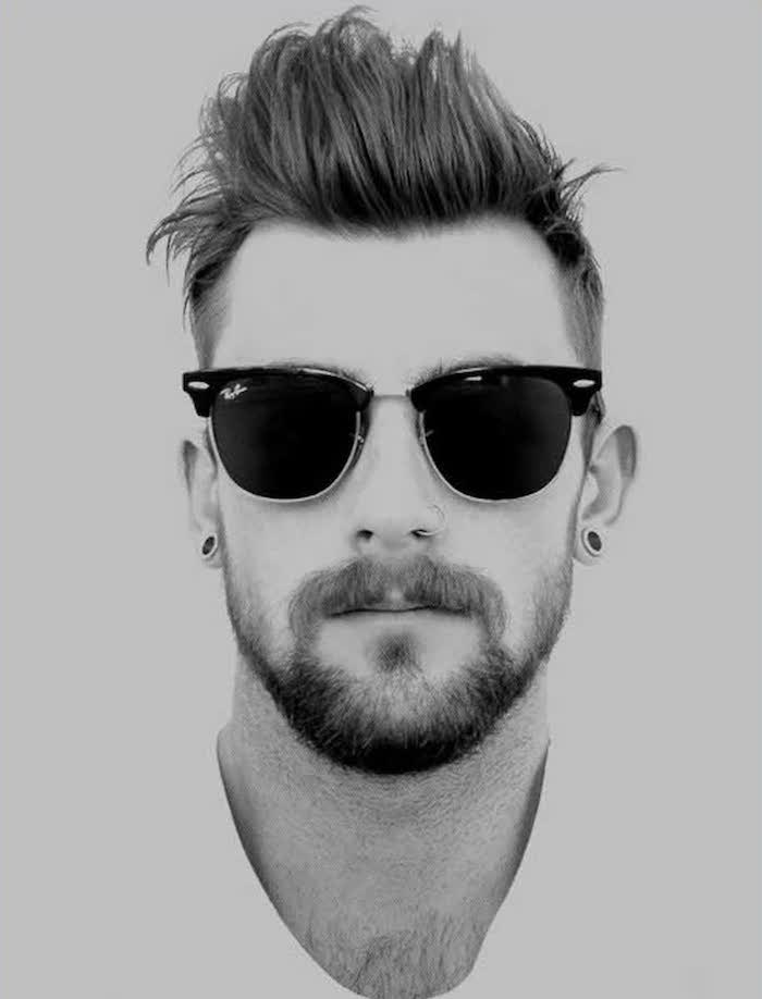 coupe en arriere homme style coiffure hipster banane