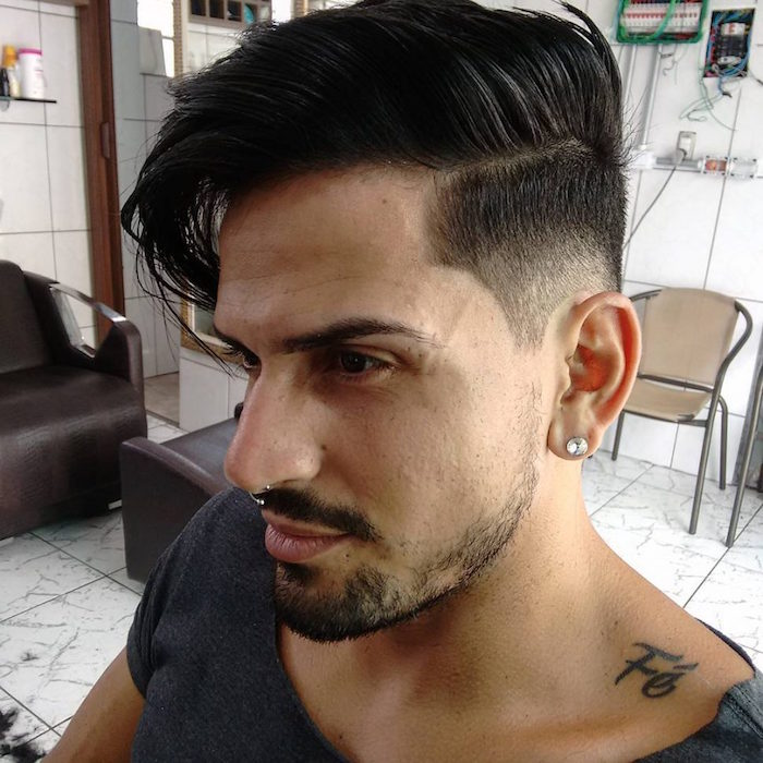 coupe retro homme banane style rockabilly en dégradé