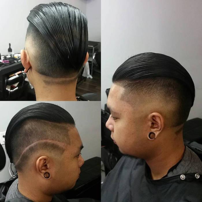 se coiffer les cheveux arriere homme court cotés