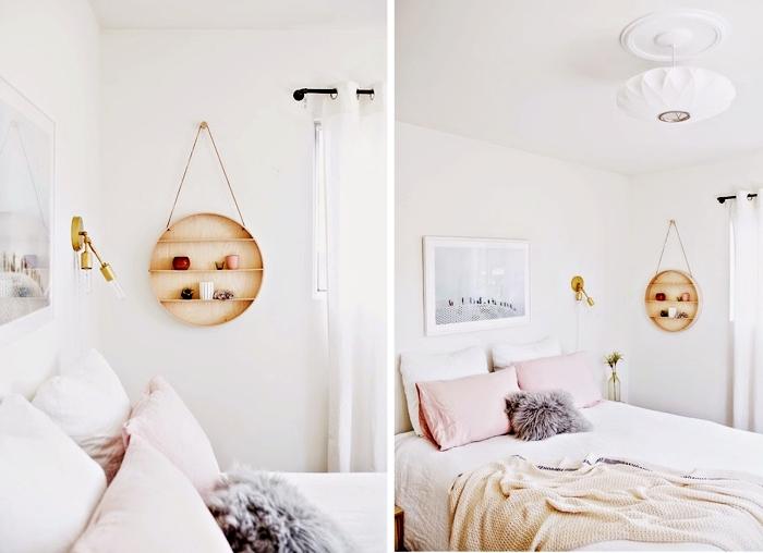 comment aménager la chambre ado dans l'esprit minimaliste, déco chambre ado fille avec rangement de bois original