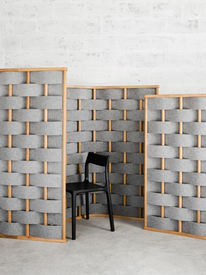 1001 id es pour la s paration chambre salon des int rieurs bien structur s - Material aislante para paredes ...